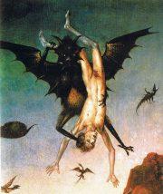 illustration - La chute des damnés (détail), Dieric Bouts (1470)