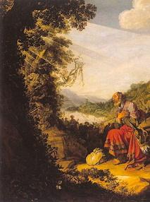 """illustration - extrait de """"Le départ d'Abraham pour Canaan"""" 1614. Saint-Petersbourg. Ermitage"""
