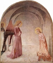 illustration - l'Annonciation, selon Fra Angelico