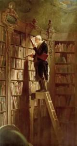 illustration - carl-spitzweg rat-de-bibliotheque
