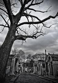 illustration - arbre et tombeaux