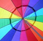 illustration - parasol multicolore