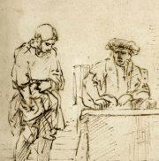 "illustration - Rembrandt ""la parabole des talents"""