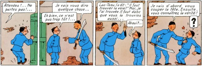 illustration - Extrait de Tintin, le lotus bleu