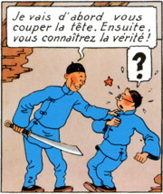 illustration - extrait du Lotus Bleu de Tintin