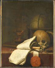 illustration - Pieter Symonsz Potter, Vanitas stilleven, 1646, Rijksmuseum