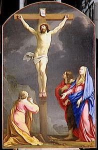 illustration - Christ en croix par Simon Vouet (1590-1649), tableau anciennement dans l'Oratoire, saisi par la Révolution